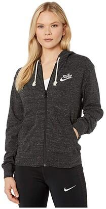 Nike NSW Gym Vintage Hoodie Full Zip (Black/Sail) Women's Sweatshirt