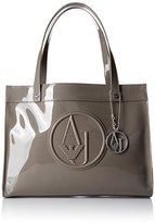 Armani Jeans Eco Patent with Detachable Charm Tote Bag