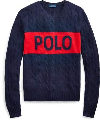 Ralph Lauren Cable-Knit Logo Sweater