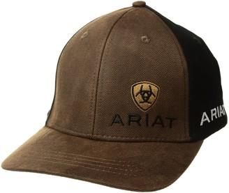 Ariat Men's Oil Skin Offset Logo Cap