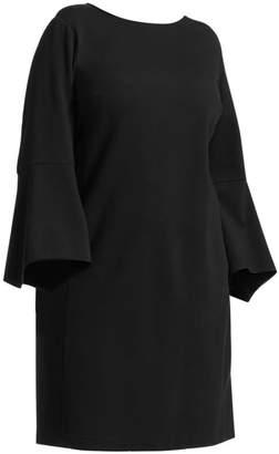 Lafayette 148 New York Lafayette 148 New York, Plus Size Paloma Flared Sleeve Pocket Dress