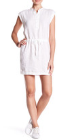 James Perse Drawstring Waist Linen Dress