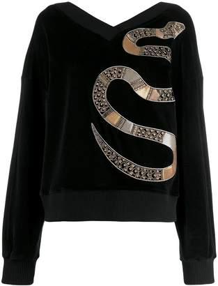 Just Cavalli embellished velvet jumper