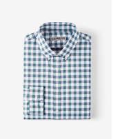 Express slim plaid performance dress shirt