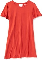 Old Navy Jersey V-Back Tee Dress for Girls