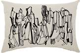 Tom Dixon Geo Embroidered Cotton-Linen Pillow