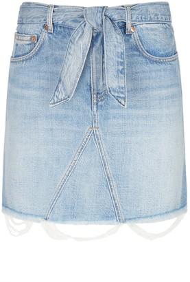 Givenchy Light Blue Denim Skirt