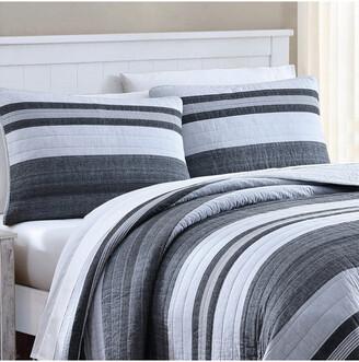 Nautica Ardmoore Grey Quilt/Sham Set