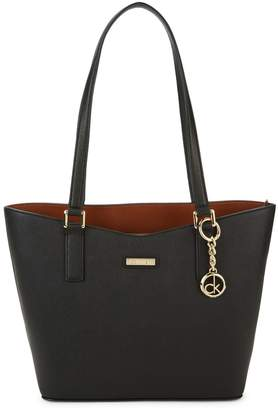 Calvin Klein Top Zip Leather Tote