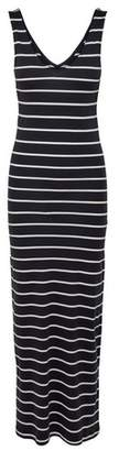 Dorothy Perkins Womens **Only Navy Stripe Print Jersey Maxi Dress