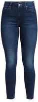 Mother Looker High-Rise Skinny Fray Ankle Jeans