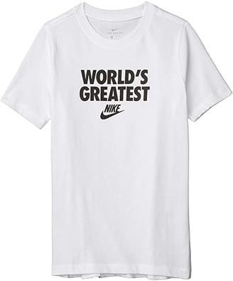 Nike Kids NSW World's Greatest Tee (Little Kids/Big Kids) (Dark Grey Heather) Boy's T Shirt