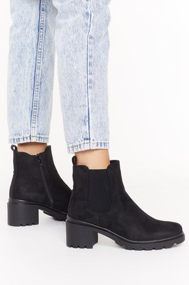 Nasty Gal Womens Ankle-ing for Something Faux Suede Boots - Black - 3