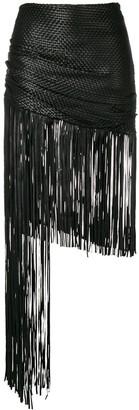 Magda Butrym asymmetric fringed skirt