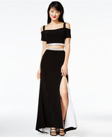 Jump Juniors' 2-Pc. Cold-Shoulder Gown, A Macy's Exclusive