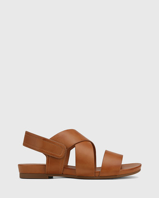Wittner - Women's Brown Sandals - Leena Leather Open Toe Flat Sandals - Size One Size, 37 at The Iconic