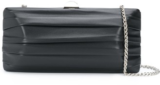 Rodo Pleated Detail Clutch Bag