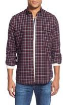 Nordstrom Men's Trim Fit Long Sleeve Plaid Flannel Sport Shirt