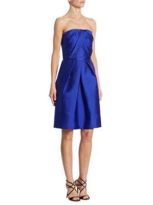 ML Monique Lhuillier Strapless Cocktail Dress