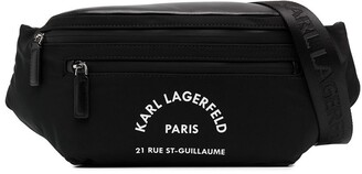 Karl Lagerfeld Paris Rue St Guillaume print belt bag