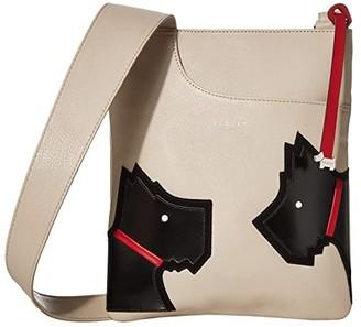 Radley London Face To Face - Large Zip Top Crossbody (Dove Grey) Handbags