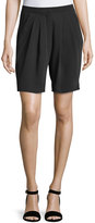 Dex Pleated Relaxed-Fit Bermuda Shorts, Black