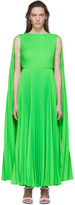 Valentino Green Pleated Dress