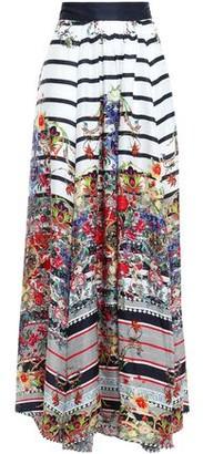 Camilla Gathered Printed Silk-twill Maxi Skirt