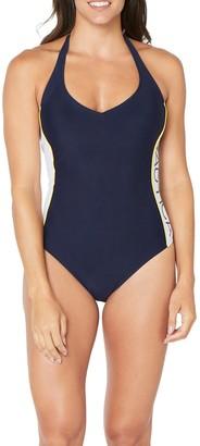 Nautica Halter Neck One-Piece Swimsuit