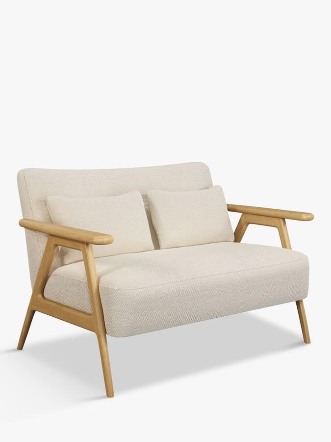 John Lewis & Partners Hendricks Loveseat, Light Wood Frame