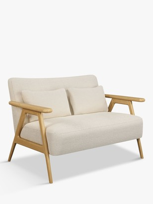 John Lewis & Partners Hendricks Loveseat, Light Wood Frame