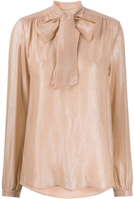 Antonelli Shimmery Pussy Bow Blouse