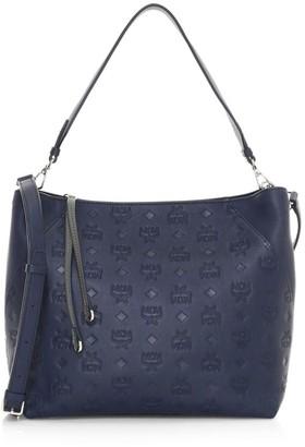 MCM Klara Monogram Leather Hobo Bag