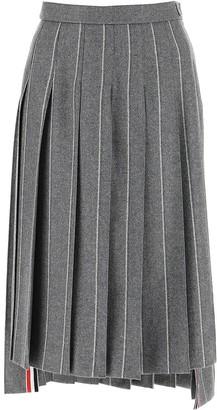 Thom Browne Stripe Motif Pleated Skirt