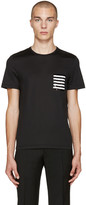 Burberry Black Sequin Pocket T-Shirt