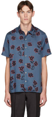 Paul Smith Blue Floral Casual-Fit Shirt