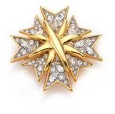 Kenneth Jay Lane Multi Cross Pave Pin
