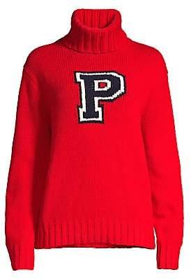 Polo Ralph Lauren Women's Varsity Wool Turtleneck Sweater