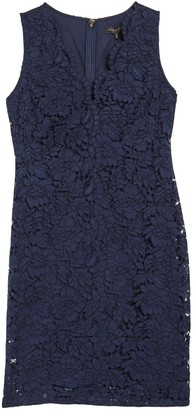 DKNY Lace V-Neck Shift Dress