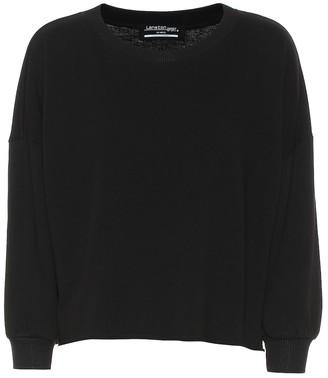 Lanston Sport Cropped cotton-blend sweatshirt