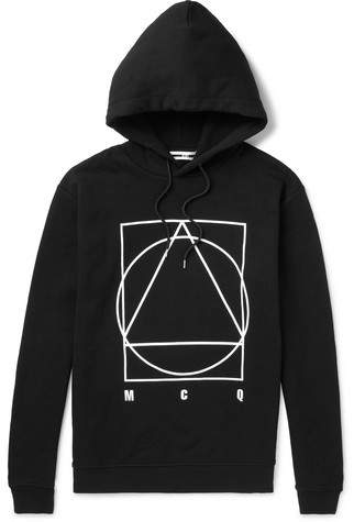 McQ Logo-Print Loopback Cotton-Jersey Hoodie