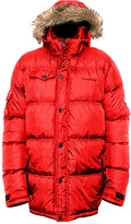 BearPaw Red Durham Hood Puffer Coat - Men