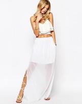MANGO Chiffon Maxi Skirt