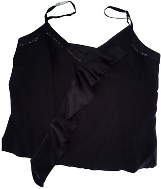 Adolfo Dominguez Black Silk Top for Women