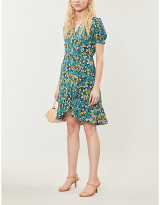 Diane von Furstenberg Emilia floral-print crepe midi wrap dress