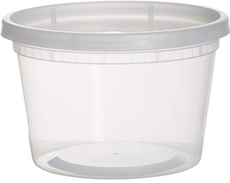 Leoney Plastic Containers for Lunch / Medium Food Containers with Lids, Leak Proof, Microwavable, Freezer And Dishwasher Safe, 16 Ounce, 36 Pack