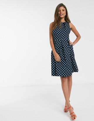 Closet London Closet midi skater dress in polkadot