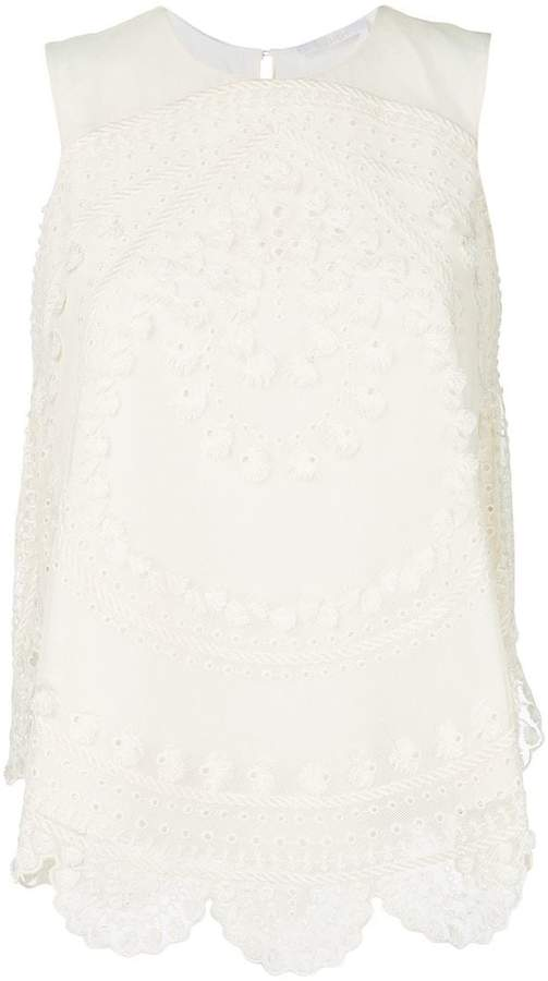 Chloé textured scalloped vest