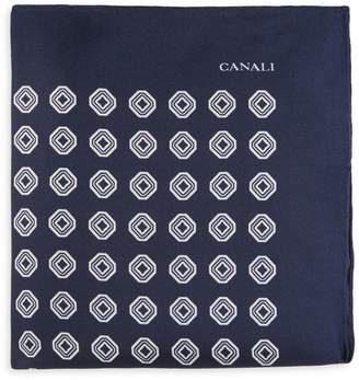 Canali Printed Silk Pocket Square