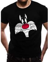 Looney Tunes Official Men's Sylvester Big Face T-Shirt - Crew Neck